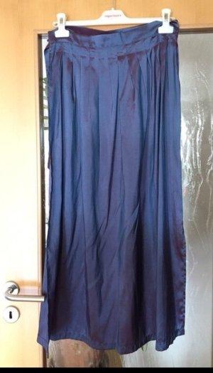 Dirndlschürze stahlblau-violett schimmernd