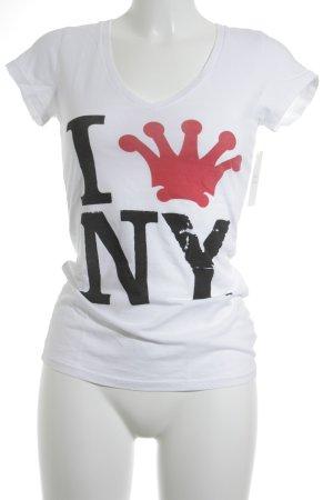 Dirtee Hollywood T-Shirt Schriftzug gedruckt Casual-Look