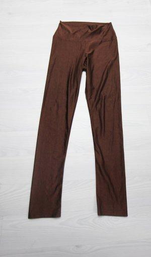 Leggings marrone-cognac