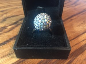 Discoball Glitzer Ring