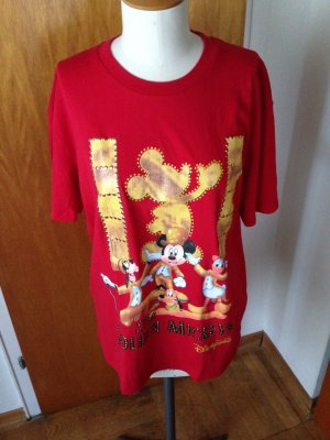 Disney disneyland Hongkong Mickey mouse rot Gold neu xl