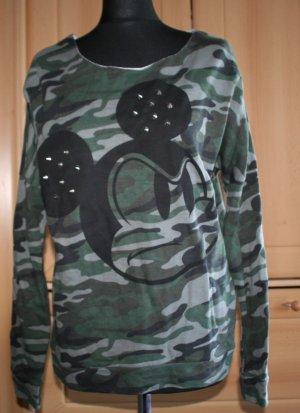 Disney Flecktarn Oversize-Sweatshirt mit Killernieten Gr. 10 Micky Mouse