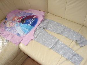 disney frozen shirt mit leggings  gr 140-146  neu