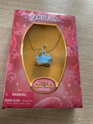 Disney Necklace gold-colored-neon blue