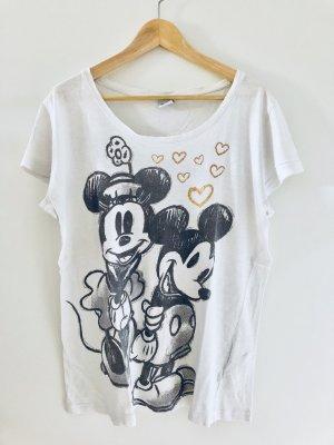 Disney Camiseta blanco-blanco puro Algodón