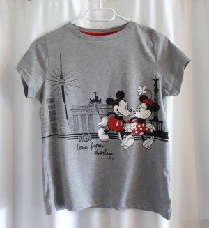 DISNEY T Shirt Berlin Edition Minnie Mickey Grau Größe 34/36 S
