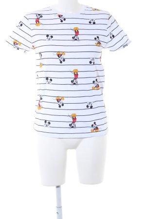 Disney T-Shirt weiß-schwarz Streifenmuster Casual-Look
