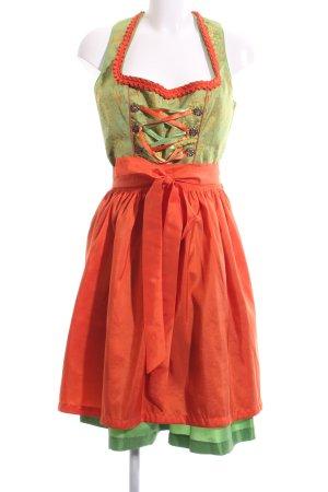 Distler Vestido Dirndl estampado con diseño abstracto estilo clásico