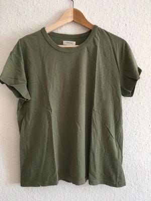 Anine Bing T-shirt khaki Katoen