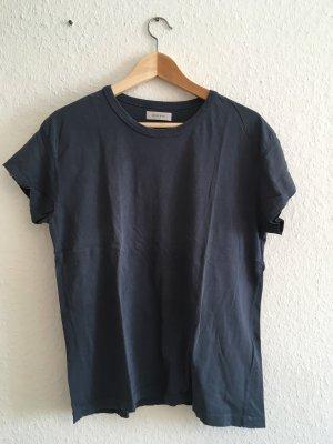 Anine Bing T-shirt donkerblauw Katoen