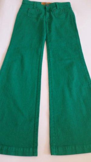 Denim Flares green cotton