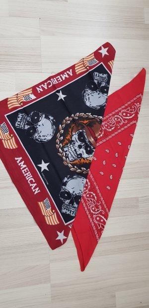 Pañoleta negro-rojo oscuro