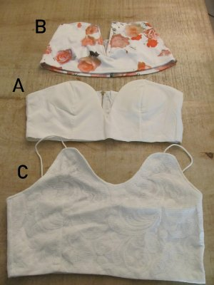 Cropped top wit-wolwit