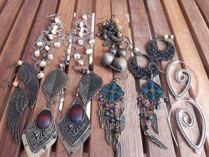 diverse goldige Ohrringe/hänger