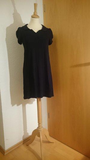 DIVIDED H&M Kleidchen schwarz, Jersey, angenehm weicher zarter Stoff, Bubikragen
