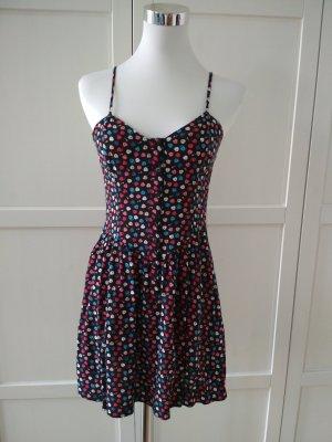 divided Kleid Gr. 36 schwarz bunt Trägerkleid Sommerkleid Schlüssel Herzchen Minikleid