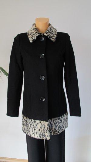 Divided Mantel mit Fake Fur Kragen Wollmischung wNEU Gr. 34-36