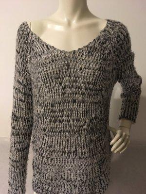 Divided Pullover Schwarz-Weiß