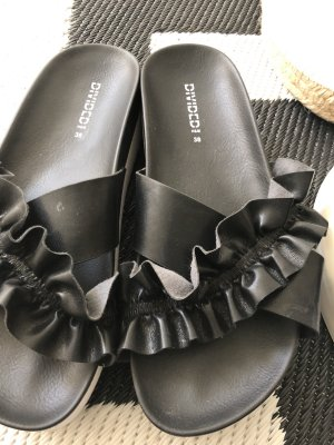 H&M Divided Zuecos negro