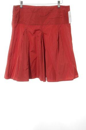 Divina Falda acampanada rojo elegante