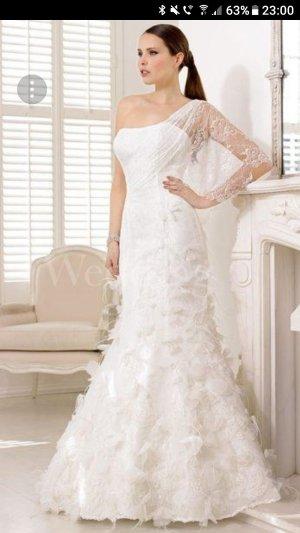 Divina Vestido de novia blanco-blanco puro