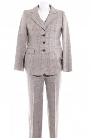 Dixie Trouser Suit cream-brown houndstooth pattern business style
