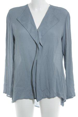 Dixie Langarm-Bluse kornblumenblau Romantik-Look
