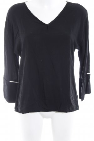Dixie Langarm-Bluse schwarz Casual-Look