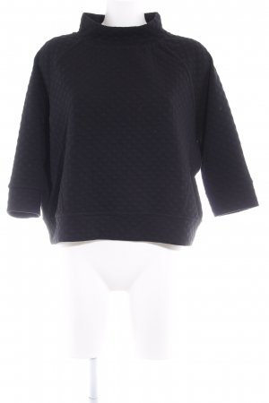 Dixie Oversized Pullover schwarz Steppmuster Casual-Look