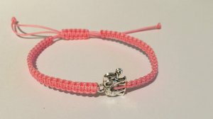 DIY Armband Armkette *Elefant* Rosa Silber Handmade