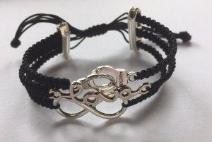 DIY Armband Armkette *Handschellen, Love und Infinity* Schwarz Silber Handmade