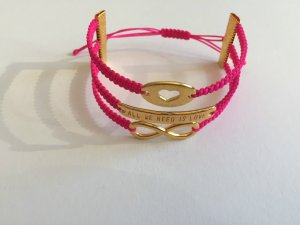 DIY Armband Armkette *Herz, all we need is love, Infinity* Pink Gold Unikat