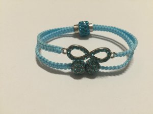 DIY Armband Armkette *Infinity* Blau Silber Strass Handmade