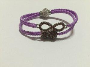 DIY Armband Armkette *Infinity* Lila Silber Strass Handmade