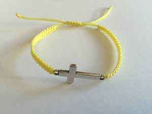 DIY Armband Armkette *Kreuz* Gelb Silber Handmade