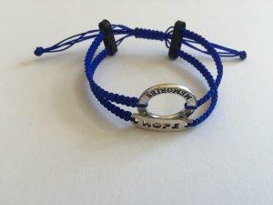 DIY Armband Armkette *Memories und Hope* Blau-Schwarz-Silber Unikat