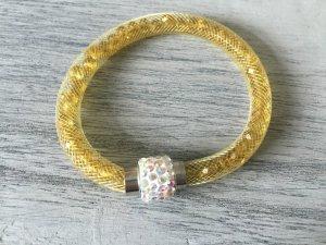 DIY Armband Armkette mit Perlen Gelb Handmade