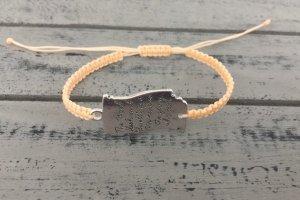 DIY Armband Armkette *Silber Aprikose* Handmade