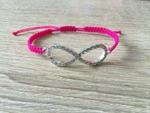 DIY Armband Armkette Strass *Infinity* Pink Silber Handmade