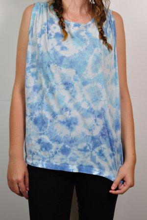 DIY Batik Shirt Blau