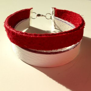 DIY Echtleder Leder Armband Bracelet