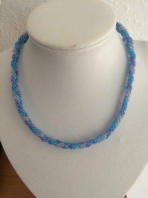 DIY Halskette Perlenhalskette Kette *Blautöne* Handarbeit Unikat