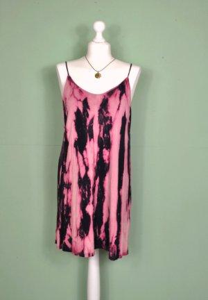 DIY Hippie Kleid in Dunkelblau und Pink / Rosa im Galaxy Look / Grunge