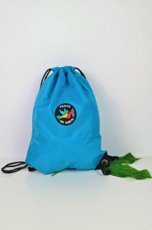 DIY Rucksack mit Patch / Aufnäher Taube Peace on Earth
