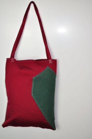 DIY Tasche mit Samt Einsatz Herz / Dreieck