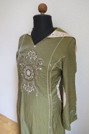 Caftan green grey-natural white