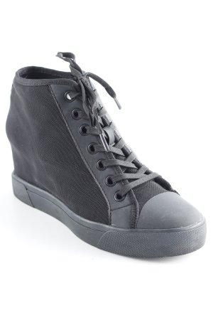 DKNY Sneakers met hak zwart casual uitstraling