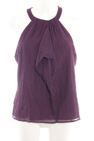 DKNY ärmellose Bluse brombeerrot Business-Look