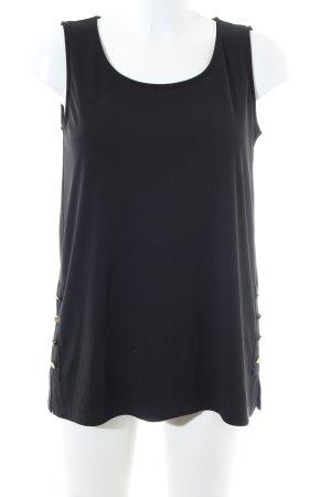 DKNY ärmellose Bluse schwarz Casual-Look