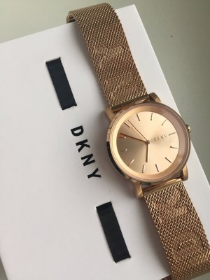 DKNY Horloge met metalen riempje roségoud